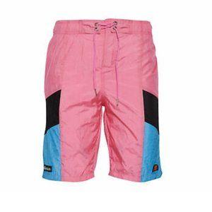 Ellesse Pink Color Block Nylon Swim Board Shorts
